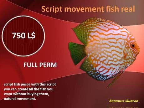 script movement fish real FULL PERM | SL Gadgets and Tools