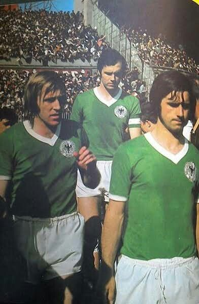 Turkey 0 West Germany 3 in April 1971 in Istanbul. Gunter Netzer, Franz Beckenbeur and Gerd Muller all come out for the 2nd half in the Euro '72 Qualifier.