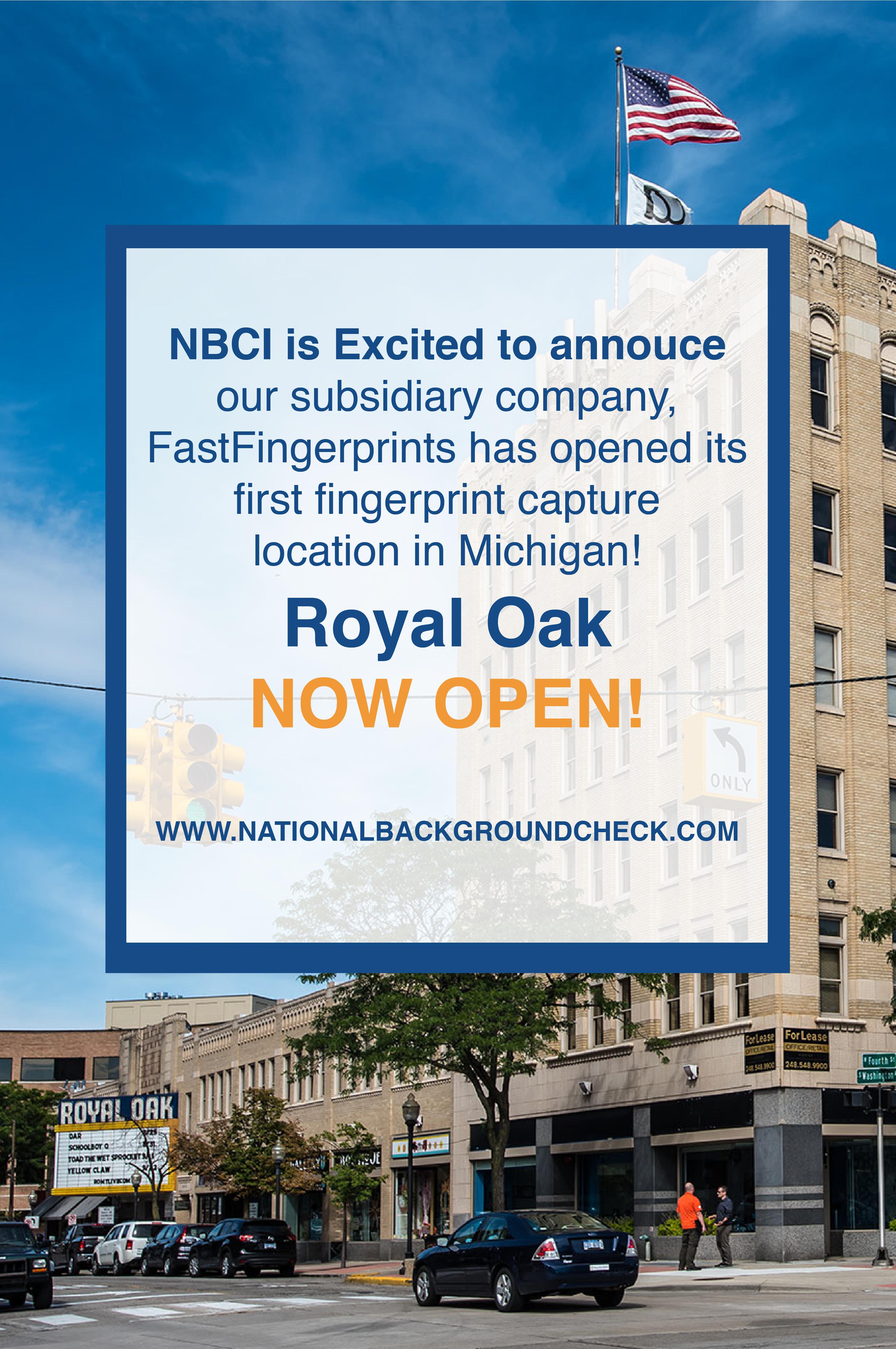 Fingerprint Capture In Royal Oak Now Open Live Scan Fingerprinting Background Check Check Background