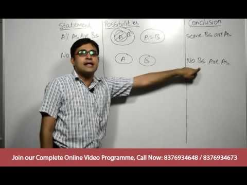 Ssc ibps clerk bank po reasoning tricks syllogism basics ssc cgl reasoning tricks bank po preparation 2017 video lecture dealing with syllogism rules and venn diagrams this video will help you tackle syllogism ccuart Choice Image