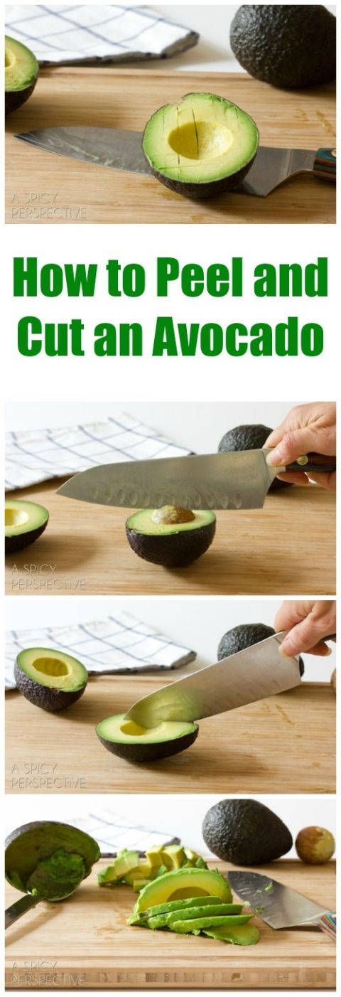 how to cut and eat avocado