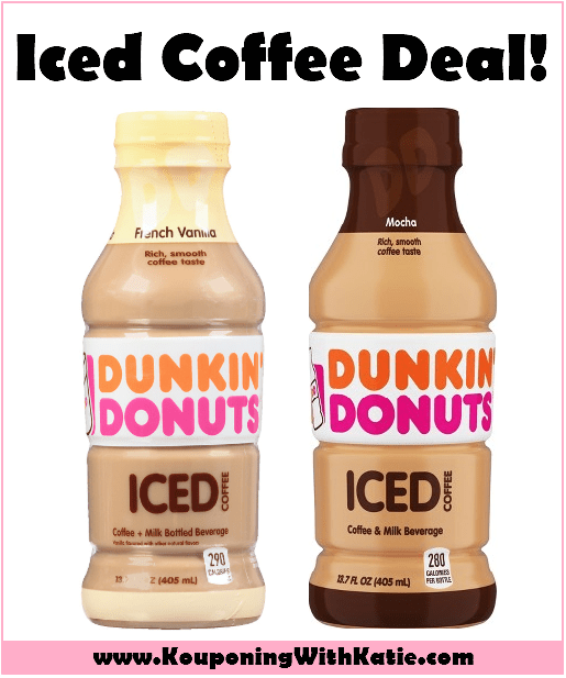 $0.75 Dunkin Donuts Iced Coffee Drinks At Target!!!