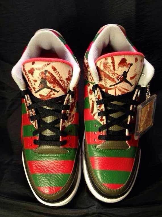 d182a83587002 Freddy Kruger inspired Jordans! Air Jordan Iii