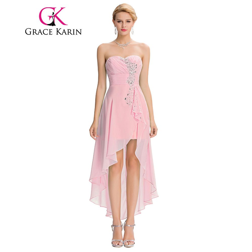 Pink wedding dress short in front long in back  Grace Karin Short Front Long Back Evening Dress Pale Turquoise