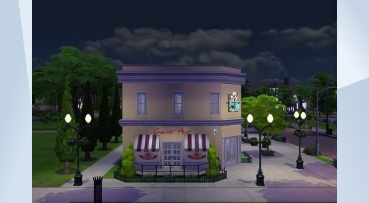Check out this lot in The Sims 4 Gallery! - Come enjoy pastry and coffee in this cafe. Fill in with your creations. Complete version to come later.
