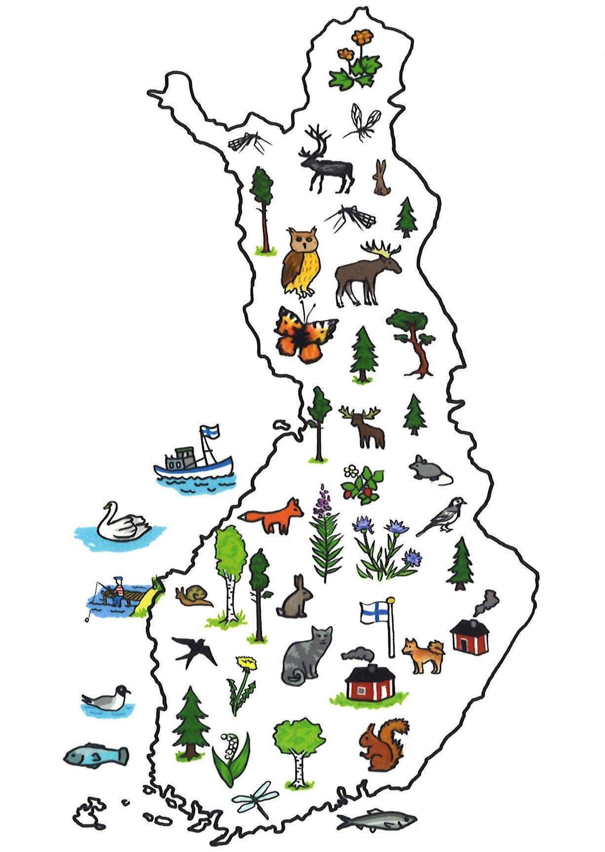 Suomen Kartta Kartta Suomi Esikoululaisille