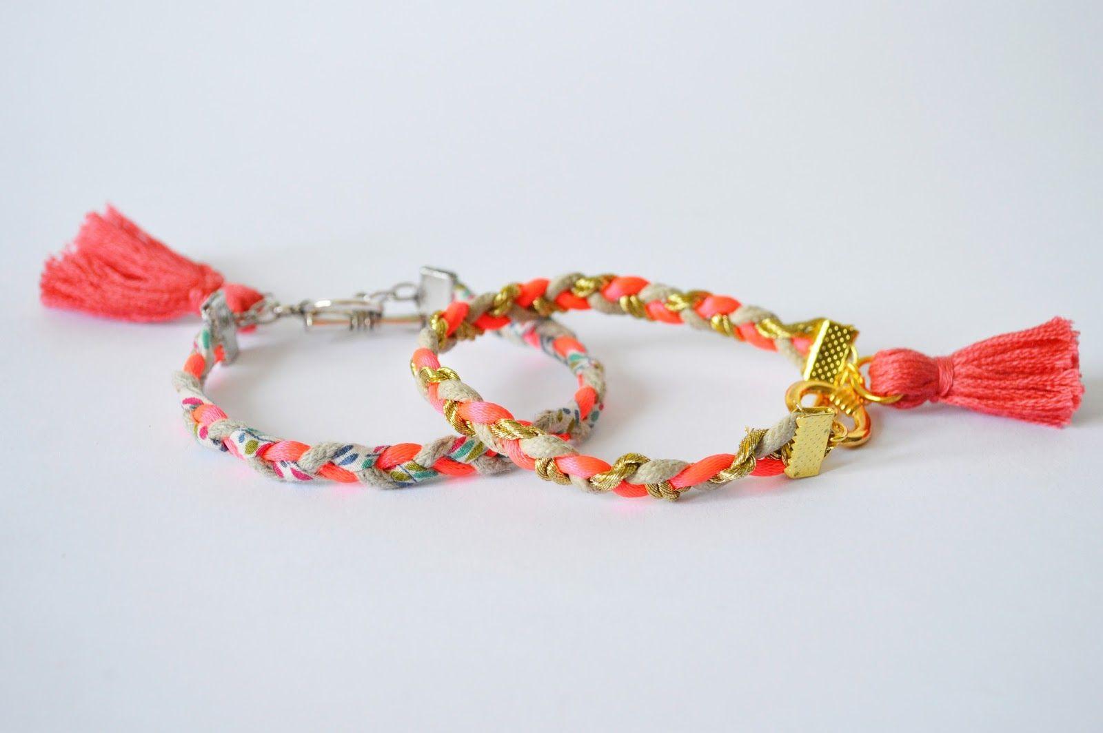 Idée cadeau pour la fête des mères  un tuto rapide et facile à réaliser  pour fabriquer soi,même un petit bracelet d\u0027été pour sa maman.