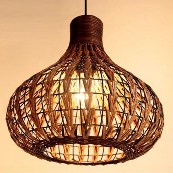NEW Tropical Bamboo Chandelier DIY Wicker Rattan Lamp Shades Weave ...