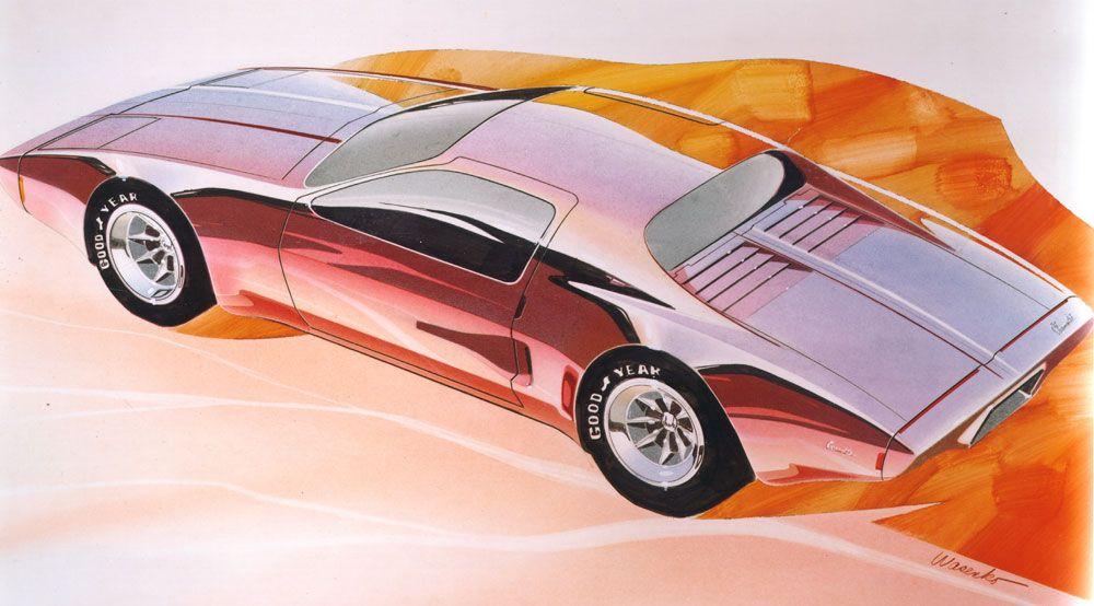 1973 XP-897 GT/2-Rotor Corvette Artwork : Dean's Garage