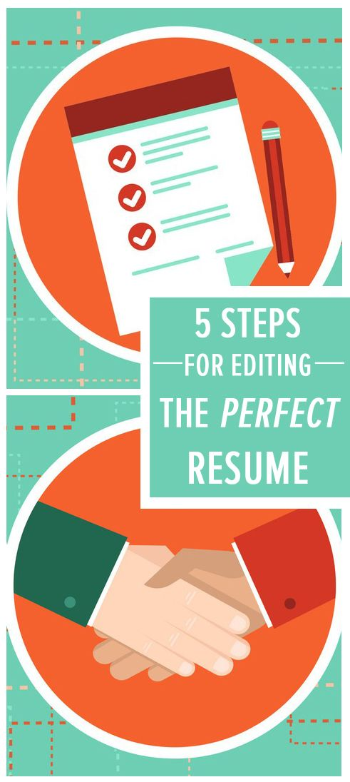 The 5-Step Editing Process for a Perfect Resume | Perfect resume ...