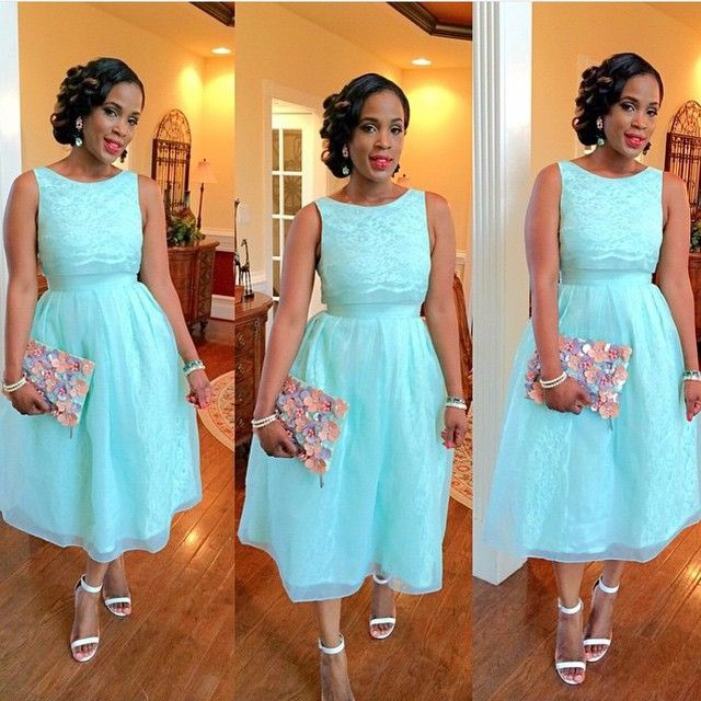 Your Wedding Guest Dilemmas Solved In Our Latest Fashion Ensembles African Fashion Dresses Prom Dresses Sleeveless Blue Lace Prom Dress
