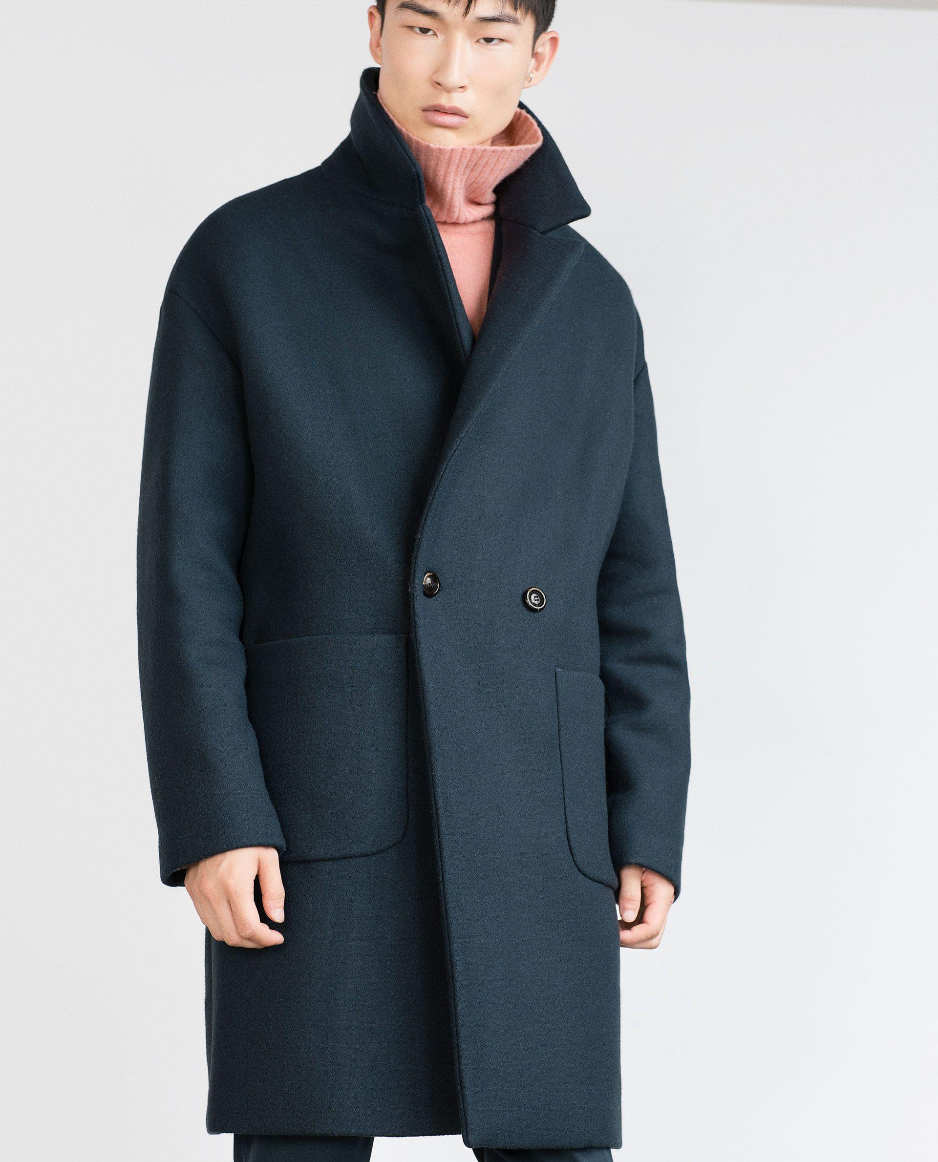 OVERSIZED COAT - Coats and Trench coats - MAN - SALE | ZARA ...