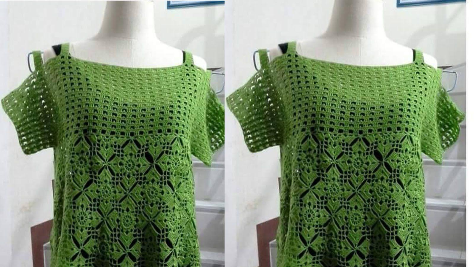 Nº05 BLUSAS TEJIDAS A CROCHET VARIADOS MODELOS   Crochet clothes ...