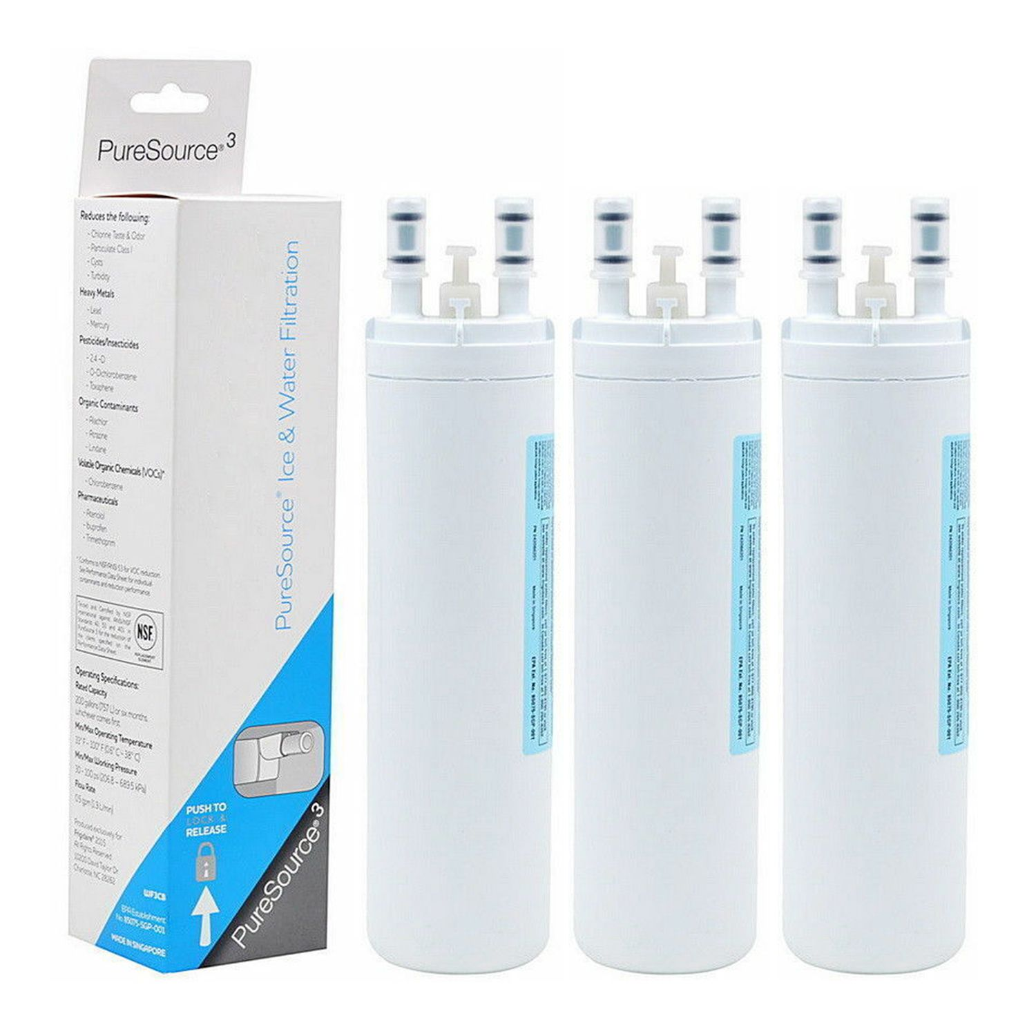 3 Pack Of Refrigerator Water Filter Replacement For Frigidaire Wf3cb Puresource 3 Ice Water Filt Refrigerator Water Filter Frigidaire Countertop Water Filter