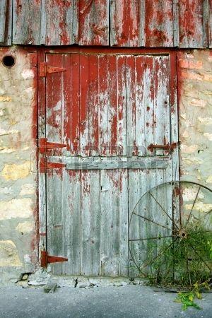 Stock Photo Vieilles Portes De Grange Vieilles Portes Et