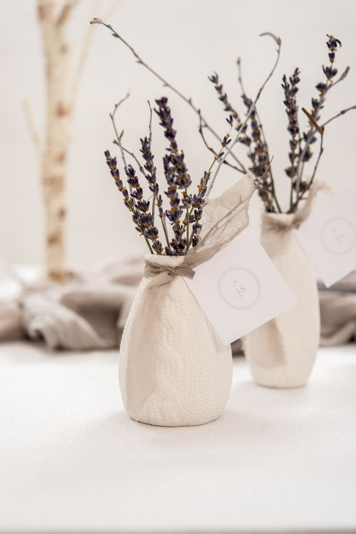 These Mini Faux Knit Porcelain Vases will add instant charm to table ...