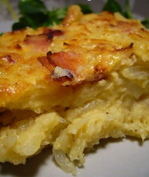 Kugelis (Potato Pudding)...omg..my favorite! My grandmother made the best! I'm so sad I can't eat it anymore because of my food allergies :(