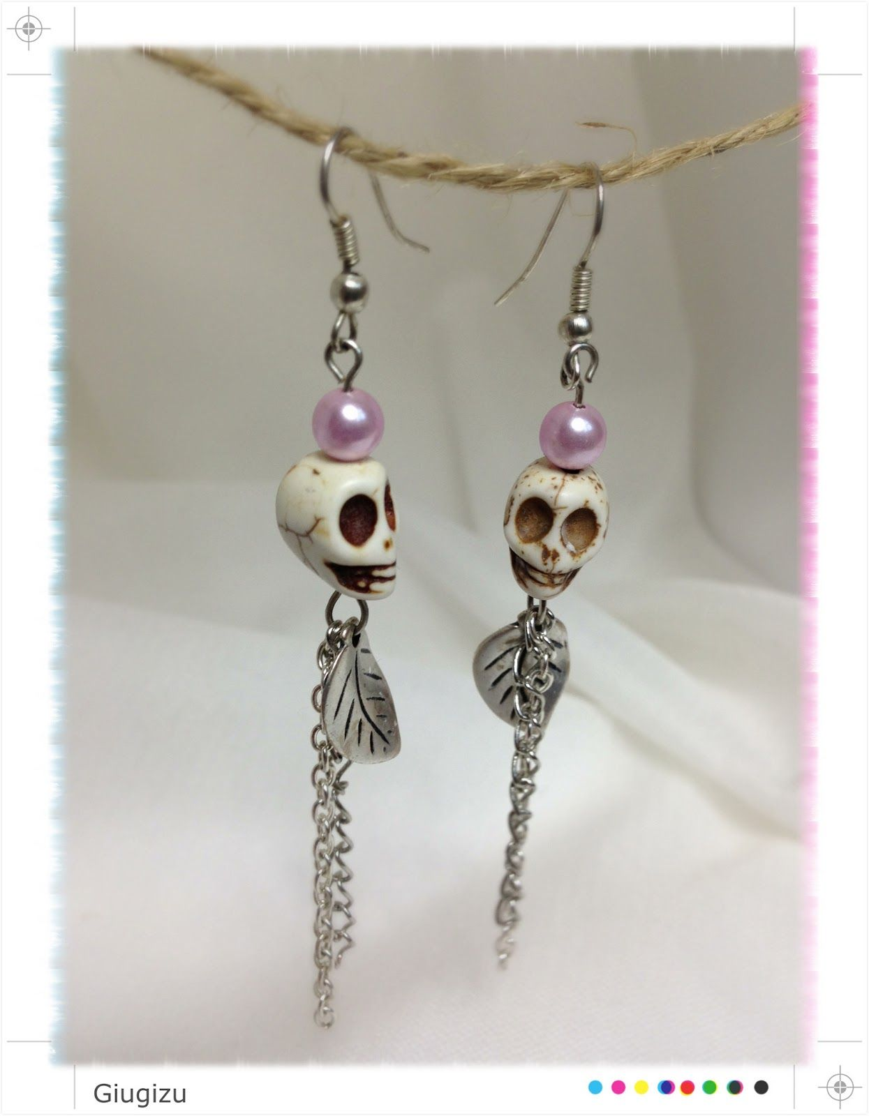 Skull pendant earrings. Check my blog to see more :) http://giugizu.blogspot.it/2013/07/skull-earrings.html