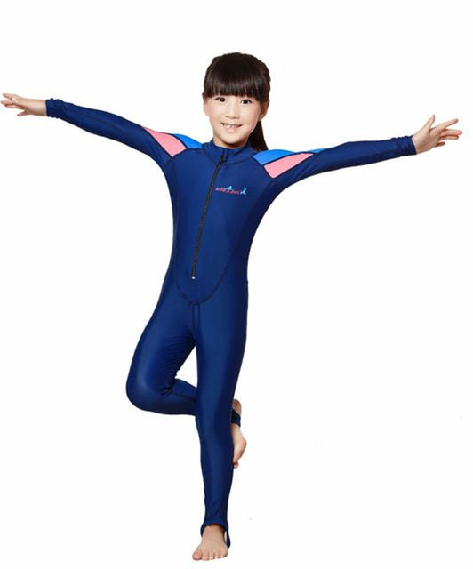 Kids One Piece Swimsuit Surfing UV Protection Swimwear Stinger Jumpsuit Lycra