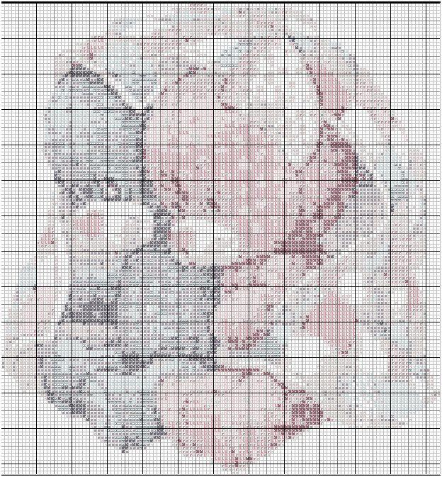 Grille point de croix a imprimer gratuite th mes point de croix pour b b pinterest point - D m c broderie grilles gratuites ...