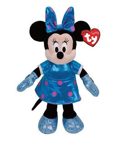 6a29792b345 16   Minnie Mouse Teal Sparkle Plush  zulily  zulilyfinds