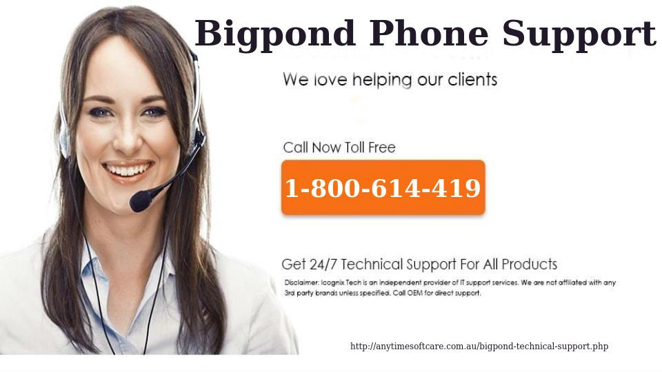 Phone Number 1800614419 Bigpond Phone Support Anytime