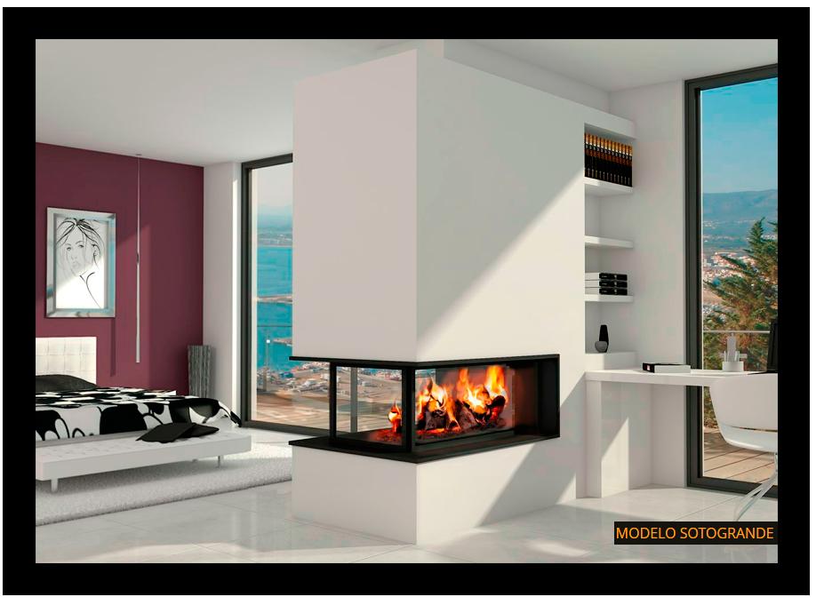 Chimenea moderna modelo sotogrande living pinterest - Fotos chimeneas modernas ...