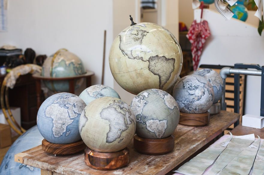 One of the worlds last remaining globe makers that use the ancient one of the worlds last remaining globe makers that use the ancient art of making gumiabroncs Gallery
