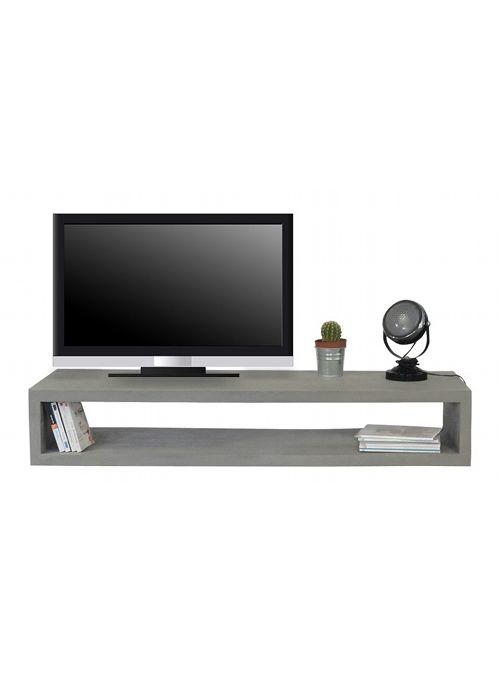 Mobile porta TV anima in legno con lavorazione effetto cemento, un ...