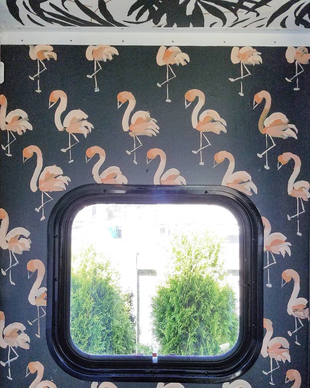 "3,424 Likes, 163 Comments - Liz Kamarul (@liz_kamarul) on Instagram: ""Of course I painted baby flamingos in the RV, it wouldn't feel like home without them! . #rvlife…"""