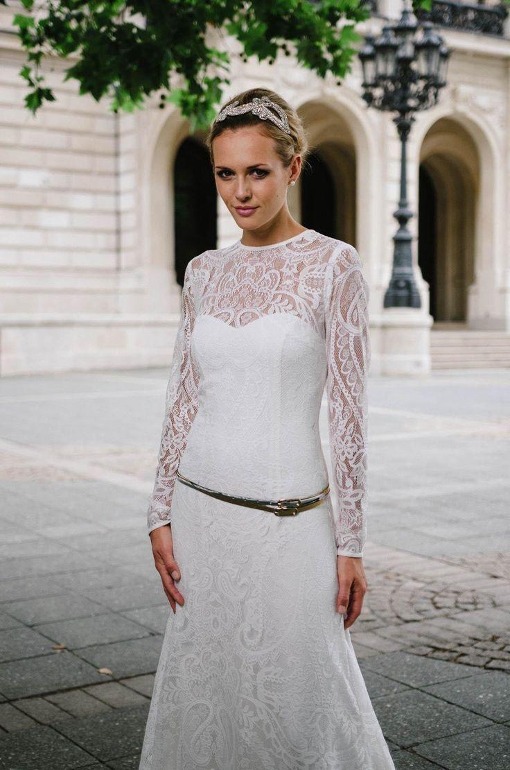 Brautkleid Langarm in edler Paisley-Spitze – Valentina   Hochzeit ...