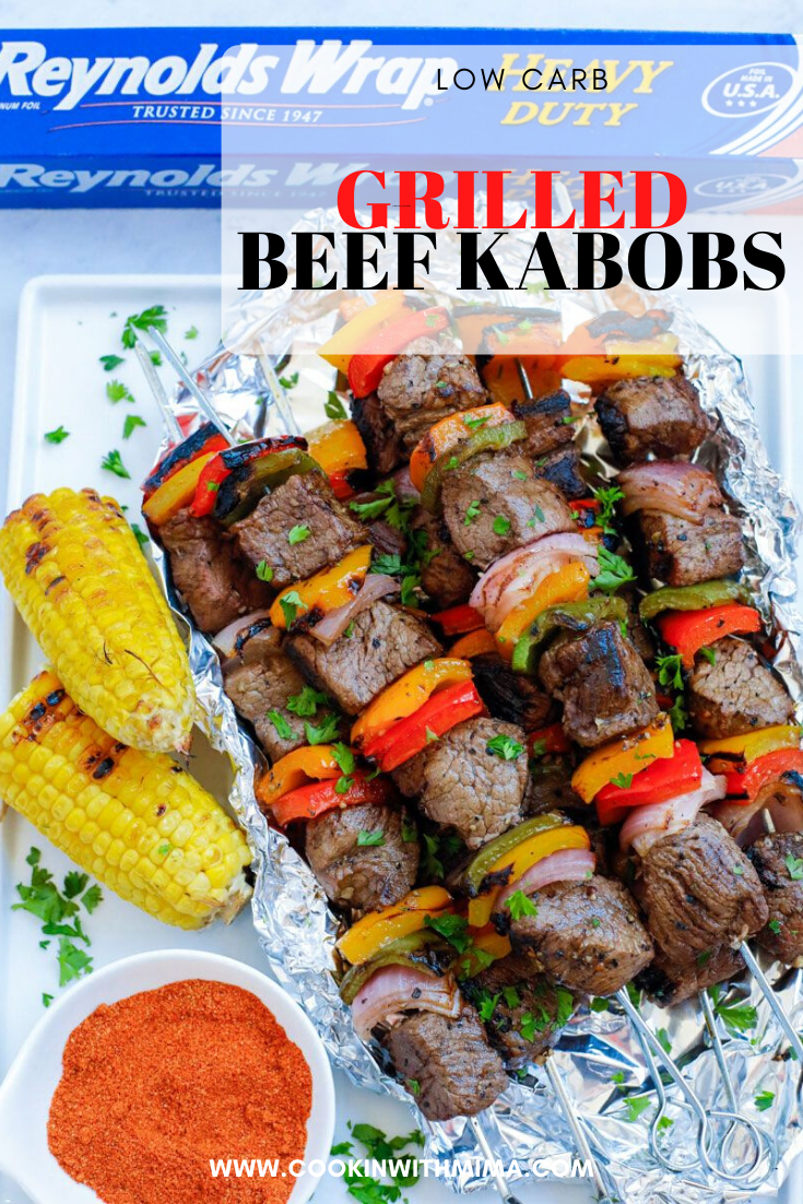 Grilled Beef Kabobs Recipe In 2020 Beef Kabobs Beef Grilled Beef Kabobs