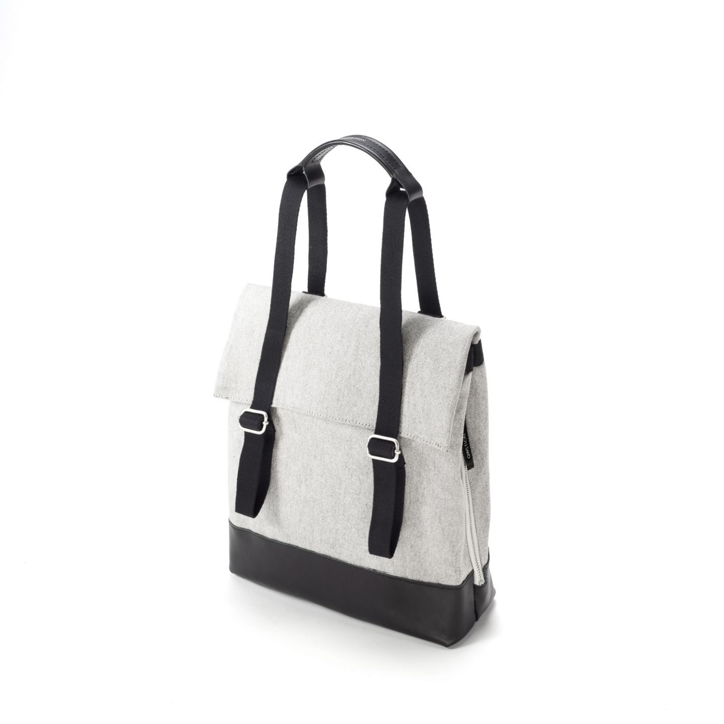 Photo of Small Tote Raw Blend Leather Canvas