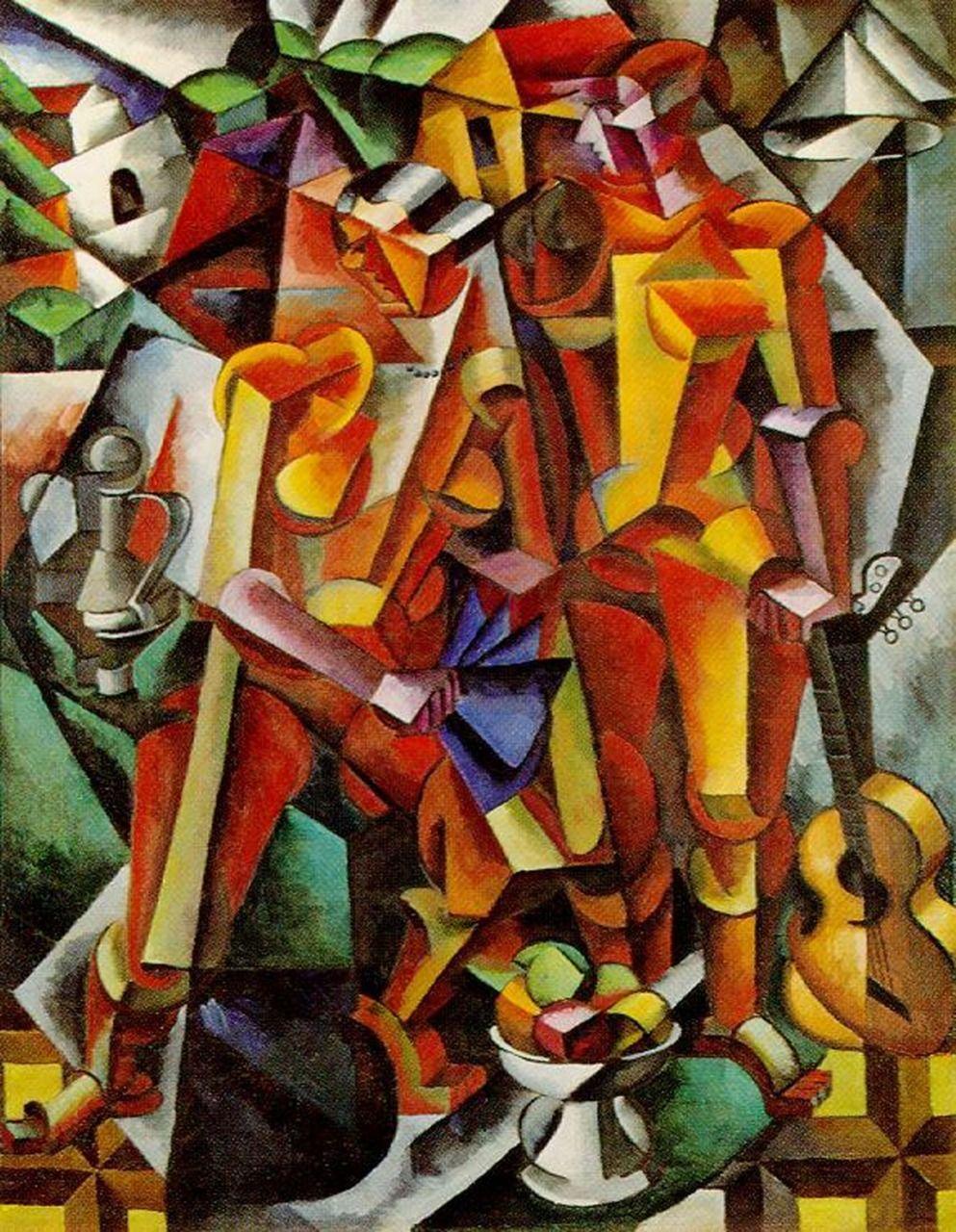 Lyobov Popova: Two Figures, 1913