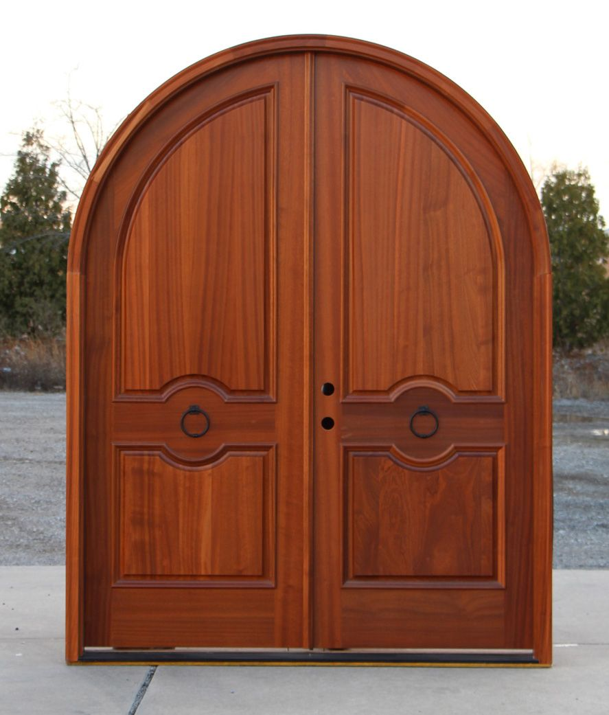 Double Front Doors For Homes Arched Mahogany Exterior Double Doors House Ideas Pinterest
