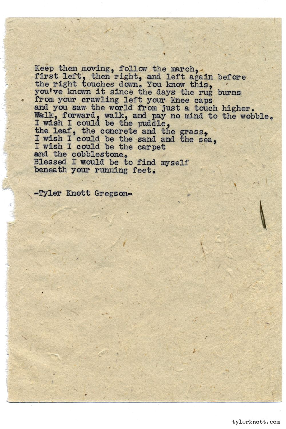 Typewriter Series 1087 By Tyler Knott Gregson Chasers Of The