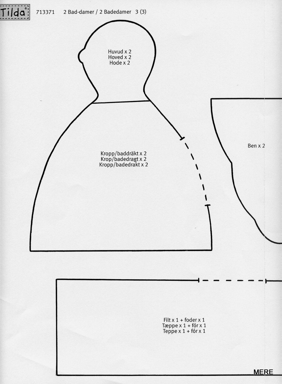 belindapatch: PATRONES DE TILDA BAD-DAMER (tilda gordi) | Tildas y ...