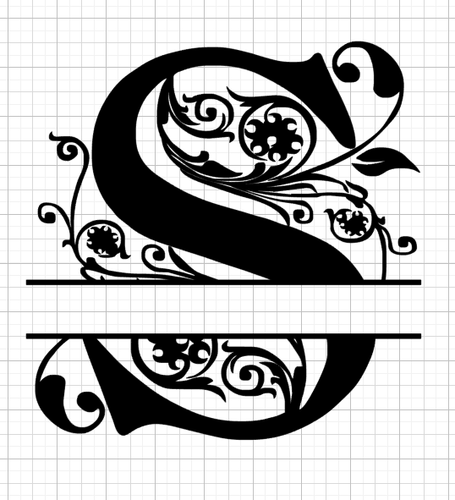 Download A to Z Split Regal Monograms in SVG and EPS format with ...