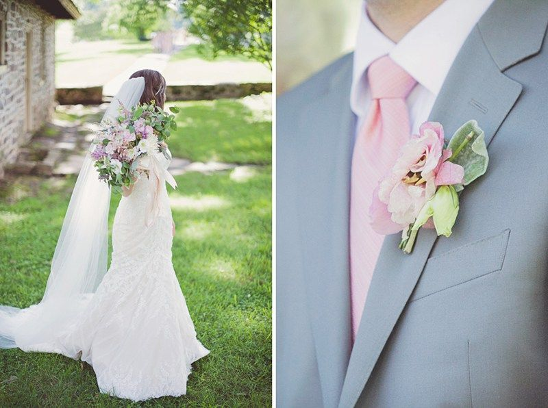Light Pink Is The Perfect Accent Color For A Summertime Wedding Clic Sofia Gown By Matthew Christopher Great All Seasons