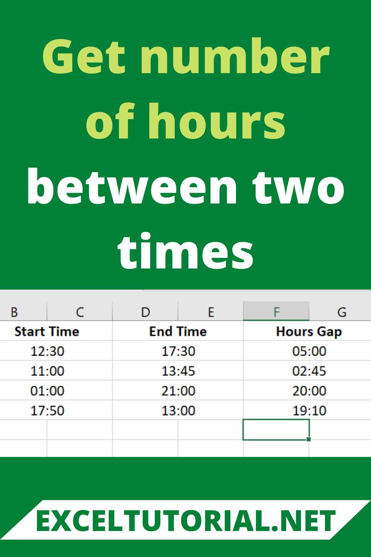 Get Number Of Hours Between Two Times Excel Tutorials Microsoft Excel Excel Macros