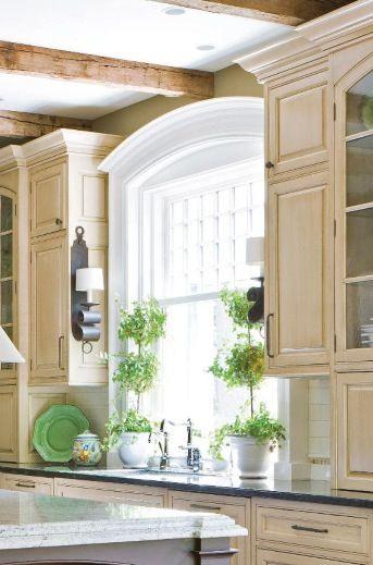Window Molding And Topiaries Kitchen Window House Kitchen Appliances Design
