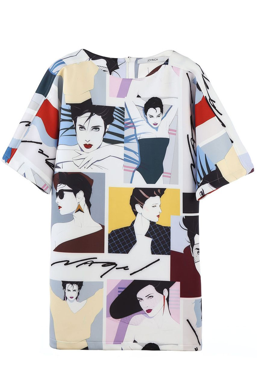 PATRICK NAGEL GALLERY SHIFT DRESS / MULTI - JOYRICH Store ...