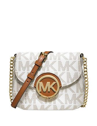b73c3457755b61 MICHAEL MICHAEL KORS MK Signature Print Fulton Small Crossbody Bag ...