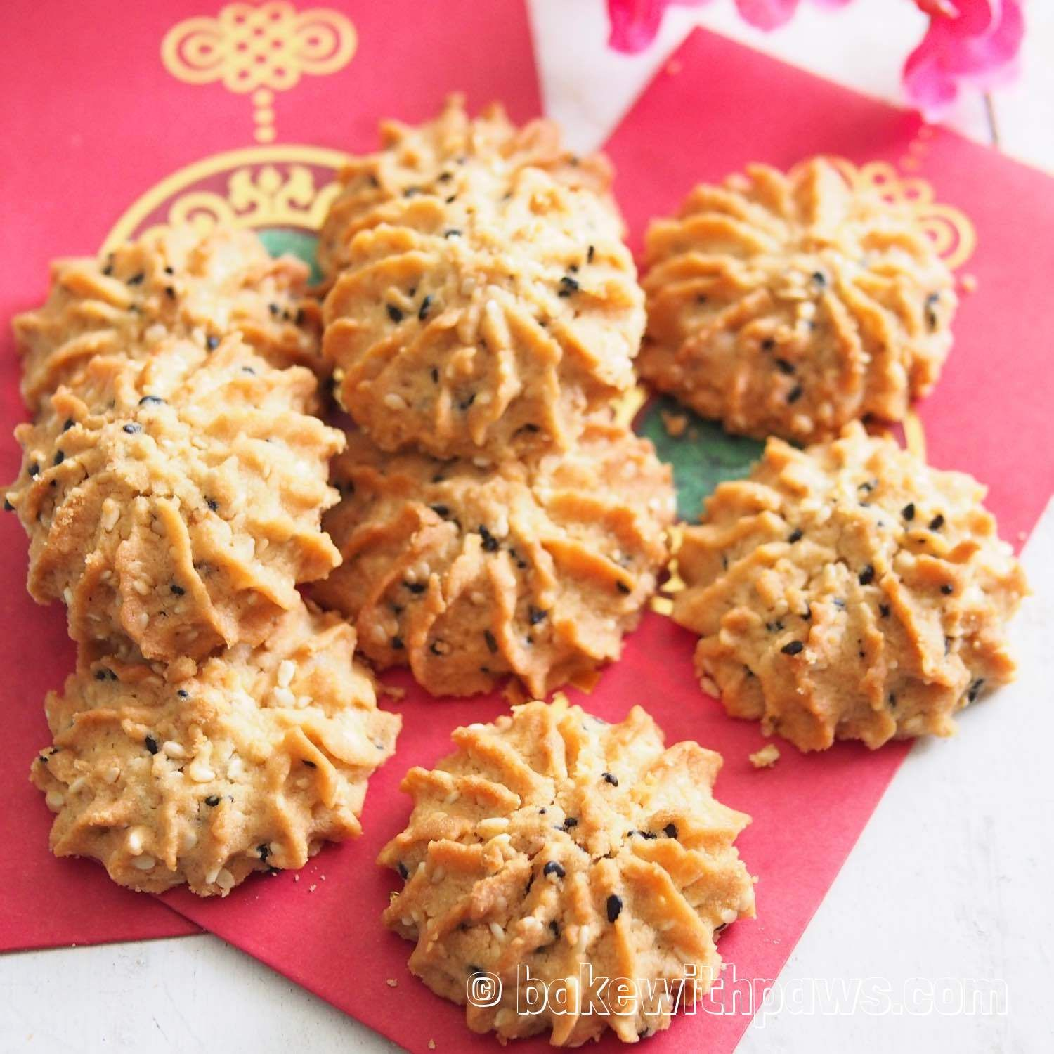 BAKE WITH PAWS Chinese New Year Cookies Seed cookies