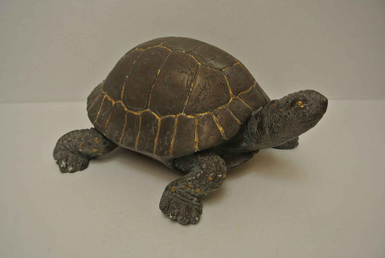 Vintage Cast Bronze Sculpture Turtle Statue Unsigned Mark Hopkins ...