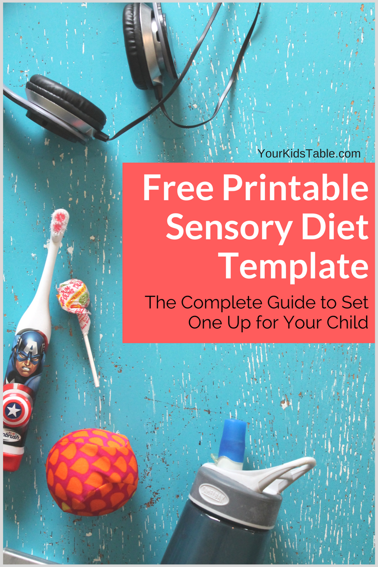 Easy To Use Sensory Diet Template With A Free Pdf Pediatric Ot And
