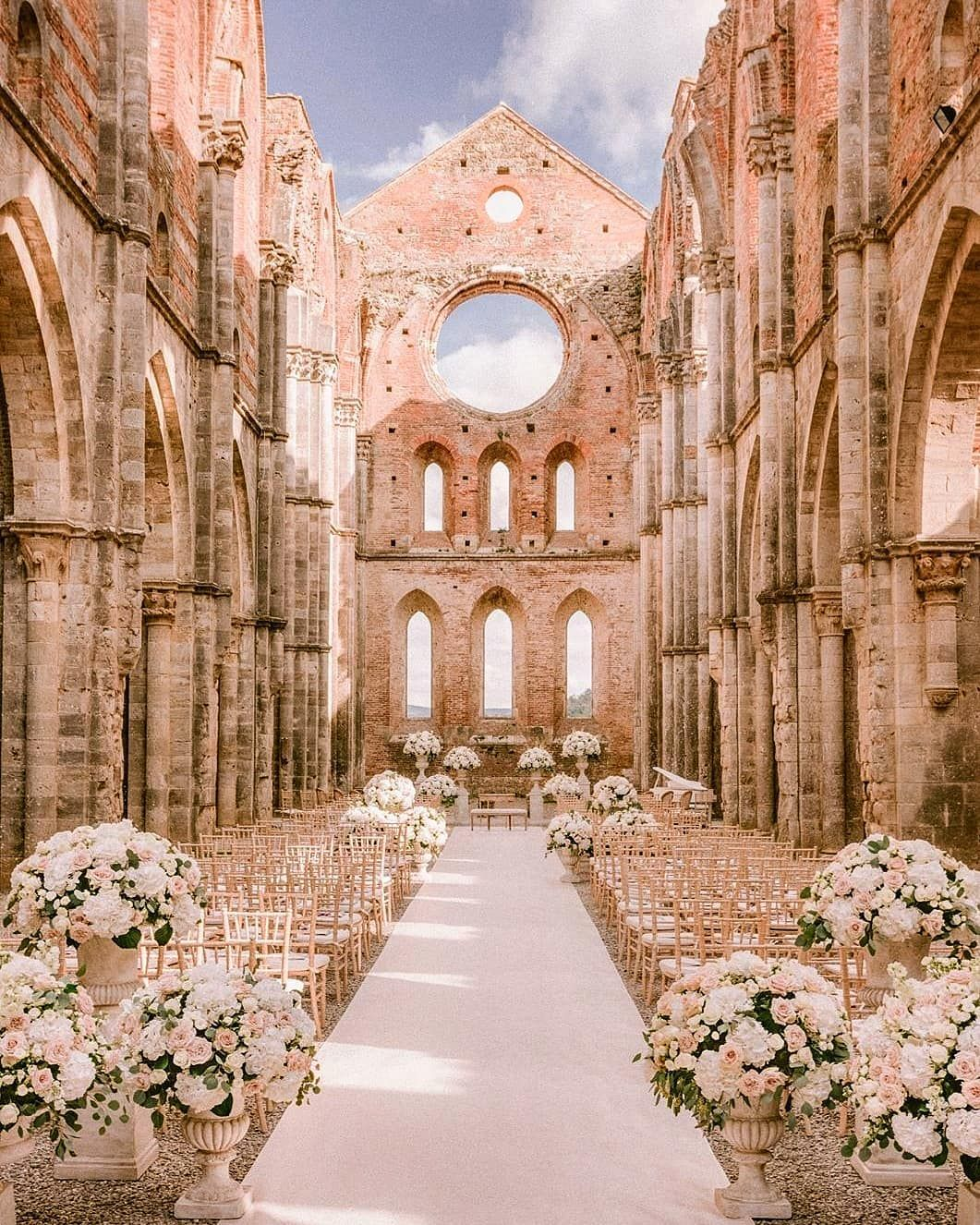 Lebanese Weddings On Instagram Now That S Completely Romantic And Dreamy The Abbey Of San Dream Wedding Venues Stunning Wedding Venues Italy Wedding Venues