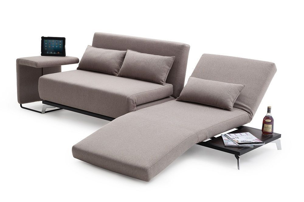 Truly Functional Fabric Convertible Pull Out Sofa Bed With Lounge