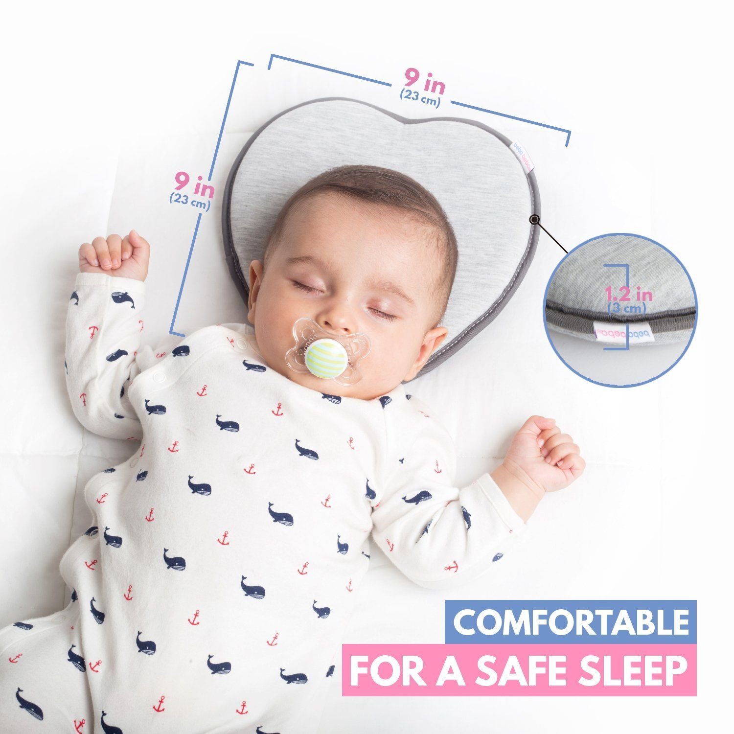 Baby Pillow Kids Infant Anti Flat Head