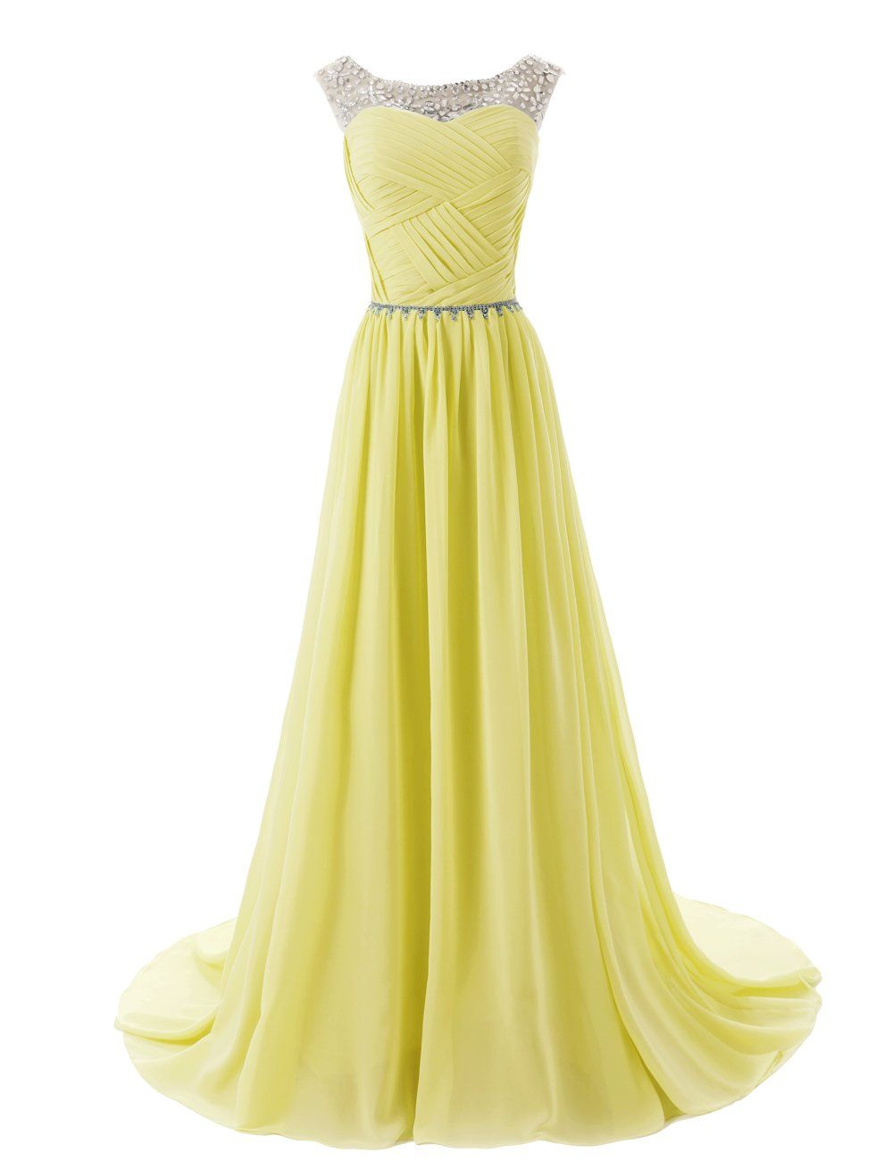 Dressystar beaded sleeveless bridesmaid dresses prom gown with beads